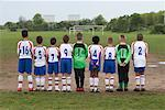 Rear View of Soccer Team    Stock Photo - Premium Royalty-Free, Artist: Masterfile, Code: 600-01374788