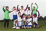 Portrait of Soccer Team With Gold Medals and Trophy Stock Photo - Premium Royalty-Free, Artist: Masterfile, Code: 600-01374820