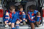 Soccer Players Getting Ready    Stock Photo - Premium Royalty-Free, Artist: Masterfile, Code: 600-01374833