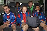Soccer Players in Minivan    Stock Photo - Premium Royalty-Free, Artist: Masterfile, Code: 600-01374839