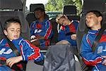Soccer Players in Minivan    Stock Photo - Premium Royalty-Free, Artist: Masterfile, Code: 600-01374840