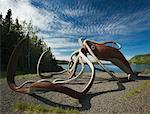 Giant Squid Sculpture, Glover's Harbour, Newfoundland and Labrador, Canada    Stock Photo - Premium Royalty-Free, Artist: Daryl Benson, Code: 600-01378754