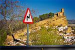 Road Sign by Village, Montefrio, Andalucia, Spain    Stock Photo - Premium Royalty-Free, Artist: Daryl Benson, Code: 600-01378788