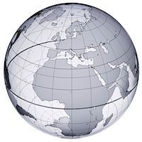 Globe with Europe and Africa prominent Stock Photo - Premium Royalty-Freenull, Code: 613-01392593