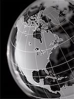 Globe with North America and Central America prominent Stock Photo - Premium Royalty-Freenull, Code: 613-01392598