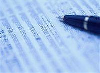 Pen on a Spreadsheet Stock Photo - Premium Royalty-Freenull, Code: 618-01410455