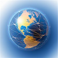 Lines Around Globe    Stock Photo - Premium Rights-Managednull, Code: 700-01429263