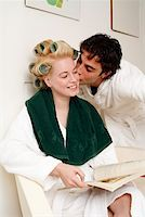 Young couple waiting in a beauty salon Stock Photo - Premium Royalty-Freenull, Code: 644-01436682