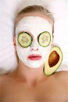 Woman having a facial treatment in a spa Stock Photo - Premium Royalty-Freenull, Code: 644-01437086