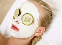 Woman having a facial treatment in a spa Stock Photo - Premium Royalty-Freenull, Code: 644-01437087