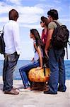 Young people at ferry dock Stock Photo - Premium Royalty-Free, Artist: RAW FILE, Code: 644-01437469