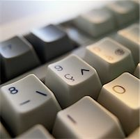 Detail of a French Computer Keyboard Stock Photo - Premium Royalty-Freenull, Code: 618-01439823