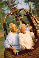 Couple in hot air balloon Stock Photo - Premium Royalty-Freenull, Code: 618-01443698