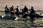 Businesspeople Rowing Stock Photo - Premium Royalty-Freenull, Code: 618-01445389