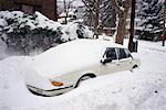 Snowed-in car in driveway Stock Photo - Premium Royalty-Free, Artist: Eyecandy Pro, Code: 618-01447635