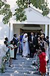 Bride and Groom Exiting the Church Stock Photo - Premium Royalty-Free, Artist: AWL Images, Code: 618-01450660