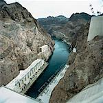 Hoover Dam, Nevada, USA    Stock Photo - Premium Rights-Managed, Artist: Derek Shapton, Code: 700-01459103