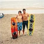 Father and Son with Wakeboards    Stock Photo - Premium Rights-Managed, Artist: Derek Shapton, Code: 700-01459113