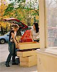 Women Unloading Drawers from Truck    Stock Photo - Premium Rights-Managed, Artist: Derek Shapton, Code: 700-01459135