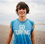 Portrait of Young Man on Beach    Stock Photo - Premium Rights-Managed, Artist: Derek Shapton, Code: 700-01459138