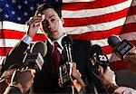 Reporters Interviewing Politician    Stock Photo - Premium Rights-Managed, Artist: Masterfile, Code: 700-01459182