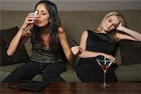 drunk passed out - Women with Martinis    Stock Photo - Premium Royalty-Freenull, Code: 600-01459234