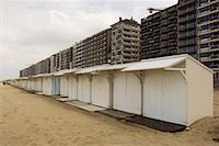 Beach Cottages and buildings, Blankenberge, Belgium    Stock Photo - Premium Rights-Managednull, Code: 700-01463925