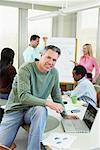 Portrait of Business People in Meeting    Stock Photo - Premium Rights-Managed, Artist: Artiga Photo, Code: 700-01463986