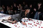 Fashion Model Falling on Runway    Stock Photo - Premium Rights-Managed, Artist: Masterfile, Code: 700-01464123