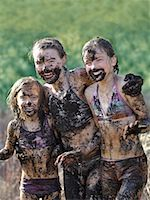Girls Covered in Mud    Stock Photo - Premium Rights-Managednull, Code: 700-01464620
