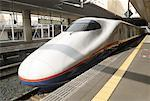 Bullet Train, Nagano Station, Nagano, Japan    Stock Photo - Premium Rights-Managed, Artist: Peter Christopher, Code: 700-01494255