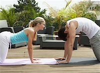 Couple Doing Yoga    Stock Photo - Premium Rights-Managednull, Code: 700-01494413