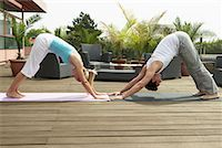 Couple Doing Yoga    Stock Photo - Premium Rights-Managednull, Code: 700-01494414