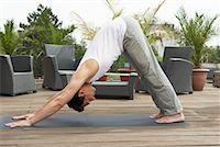 Man Doing Yoga    Stock Photo - Premium Rights-Managednull, Code: 700-01494421