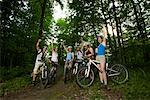Group of Mountain Bikers    Stock Photo - Premium Rights-Managed, Artist: Masterfile, Code: 700-01494534