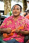 Man Playing Ukulele, Upolu, Samoa    Stock Photo - Premium Rights-Managed, Artist: R. Ian Lloyd, Code: 700-01519490