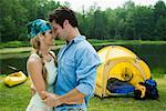 Couple Camping    Stock Photo - Premium Rights-Managed, Artist: Michael A. Keller, Code: 700-01519535