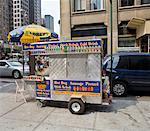 Hot Dog Stand in New York City, New York, USA    Stock Photo - Premium Rights-Managed, Artist: Tomasz Rossa, Code: 700-01519713