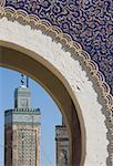 Gate at Bab Boujeloud, Fes, Morocco Stock Photo - Premium Royalty-Free, Artist: Westend61, Code: 621-01520162