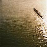 Eight person rowing team in shell with coxswain (blurred motion) Stock Photo - Premium Royalty-Freenull, Code: 613-01530802