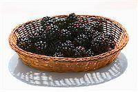 Blackberries in basket Stock Photo - Premium Royalty-Freenull, Code: 613-01530986