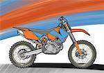 Red and blue motocross motorbike Stock Photo - Premium Royalty-Freenull, Code: 645-01538074