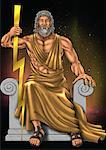 Zeus with his lightning rod Stock Photo - Premium Royalty-Free, Artist: Westend61, Code: 645-01538107