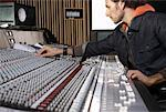 Technician in Recording Studio    Stock Photo - Premium Royalty-Free, Artist: Masterfile, Code: 600-01540785