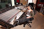 Man Working in Recording Studio    Stock Photo - Premium Royalty-Free, Artist: Masterfile, Code: 600-01540797