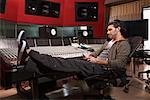 Man Working in Recording Studio    Stock Photo - Premium Royalty-Free, Artist: Masterfile, Code: 600-01540798