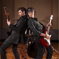 Musicians Playing Guitar    Stock Photo - Premium Royalty-Freenull, Code: 600-01540838