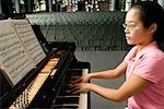 Teenager Practicing for Recital    Stock Photo - Premium Rights-Managed, Artist: Mitch Tobias, Code: 700-01540871