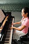 Teenager Practicing for Recital