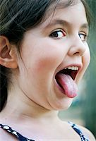 Portrait of Girl Making Faces    Stock Photo - Premium Rights-Managednull, Code: 700-01541140